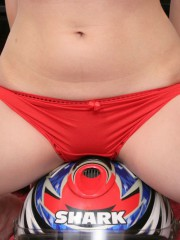 Unbelievable Sexy 18 Year Old Abigail Posing With A Big Helmet - Picture 8