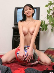 Unbelievable Sexy 18 Year Old Abigail Posing With A Big Helmet - Picture 12